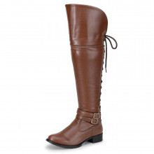 Bota Feminina Over The Knee - Whisky