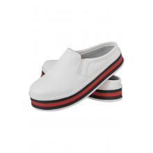Mule Maresias CR Shoes Feminino Branco Vermelho