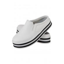 Mule Maresias CR Shoes Feminino Branco Preto