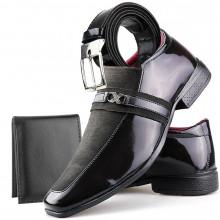 Sapato Social Neway Masculino Marom + Cinto + Carteira