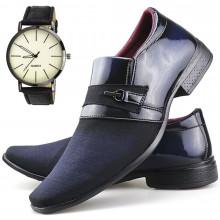 Sapato Social Neway Masculino Azul