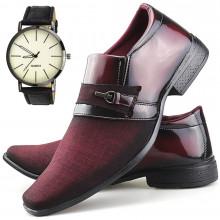 Sapato Social Neway Masculino Vermelho